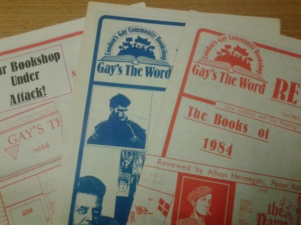 "Pamphlets from ""Gay's the Word"" Bookshop"
